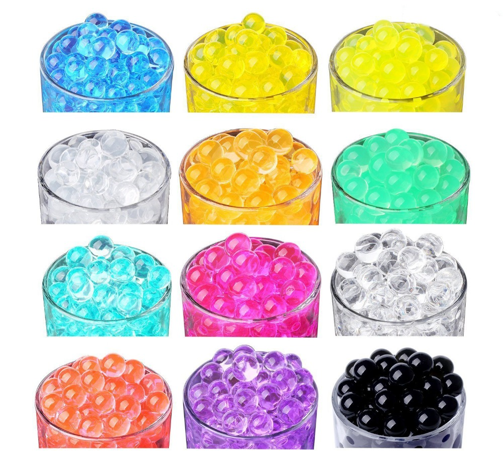 10000pcs/bag Crystal Soil Hydrogel Gel Polymer Water Beads Flower/wedding/decoration Maison Growing Water Orbeez Ball Home Decor