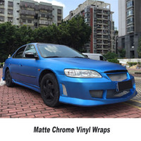 5ft X 65ft Roll High Flexibility Ice Matt Chrome Vinyl Car Wrap Film With Air Release