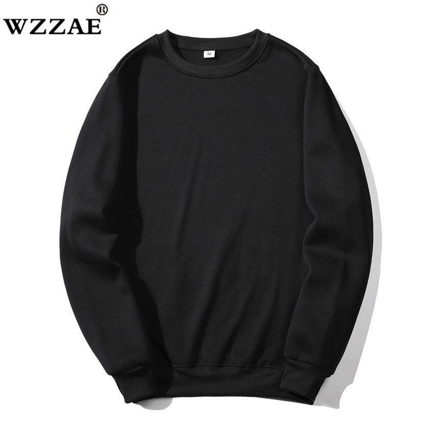 Solid Sweatshirts Spring Autumn Fashion Hoodies Male Warm Fleece Coat Hip Hop Hoodies Sweatshirts 24