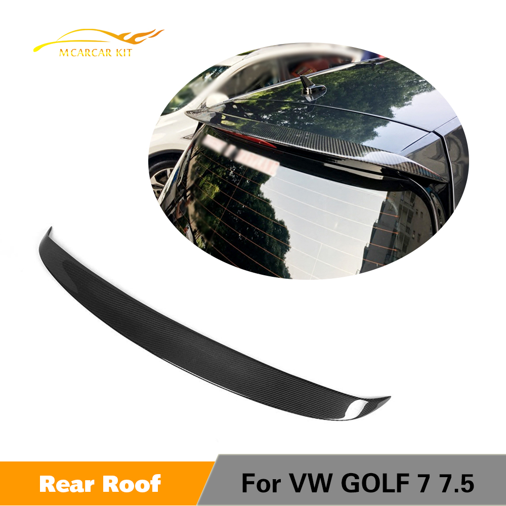 Carbon Fiber / FRP Rear Roof Lip Spoiler Wing for Volkswagen VW <font><b>Golf</b></font> 7 VII MK7 Standard Rline 2014 - 2019 Not for <font><b>R</b></font> GTI image