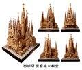 Мировой Архитектуры 3D формы ручной работы бумажная модель DIY Испания Sagrada Familia Собор зданий 30 см Высокой