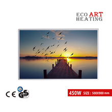Far Infrared Heater 450W Customized IR Electric Heating Panel Wall Mounted