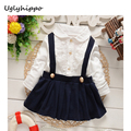 2017 Baby Girls Dress Cotton dress Long Sleeve Spring Princess Style Clothing Baby overalls BA167