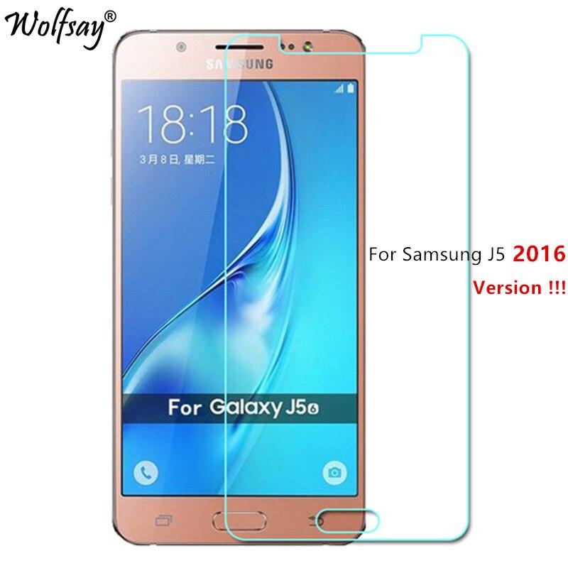 Galleria fotografica For Glass Samsung Galaxy J5 2016 Tempered Glass For Samsung Galaxy J5 2016 Screen Protector For Samsung J5 2016 Film Wolfsay