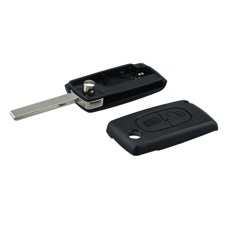 Car <font><b>Remote</b></font> <font><b>Key</b></font> Case for <font><b>PEUGEOT</b></font> 107 108 207 <font><b>208</b></font> 307 308 408 Partner 2/3 Buttons CE0536 Model HU83/VA2 optional image