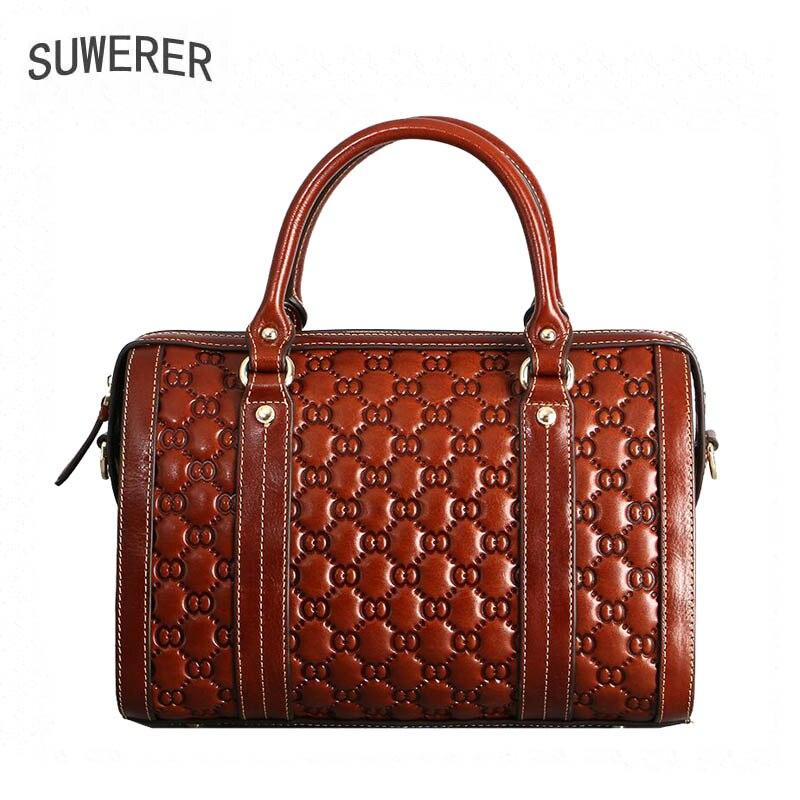 Taschen krokodil Für Handtaschen Suwerer brown Marke Frauen Luxus Neue Echtem Leder 2018 Designer Muster Red qw8nFTnftR