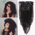 7A Grade Kinky Curly Clip In Human Hair Extensions 100/120G Brazilian Virgin Hair Clip In Extension Human Hair Extension 7Pc/Set