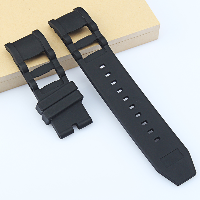 81e9698d384 Black 26mm Diving Silicone Rubber Watchband Replacement for Invicta  Waterproof strap Watch belt Man Noma band