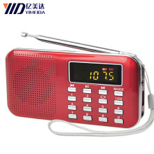 Y-896 Mini MP3 Radio Portable FM Radio Speaker Audio player Music Player With USB Cable LCD Screen Speakers(China)