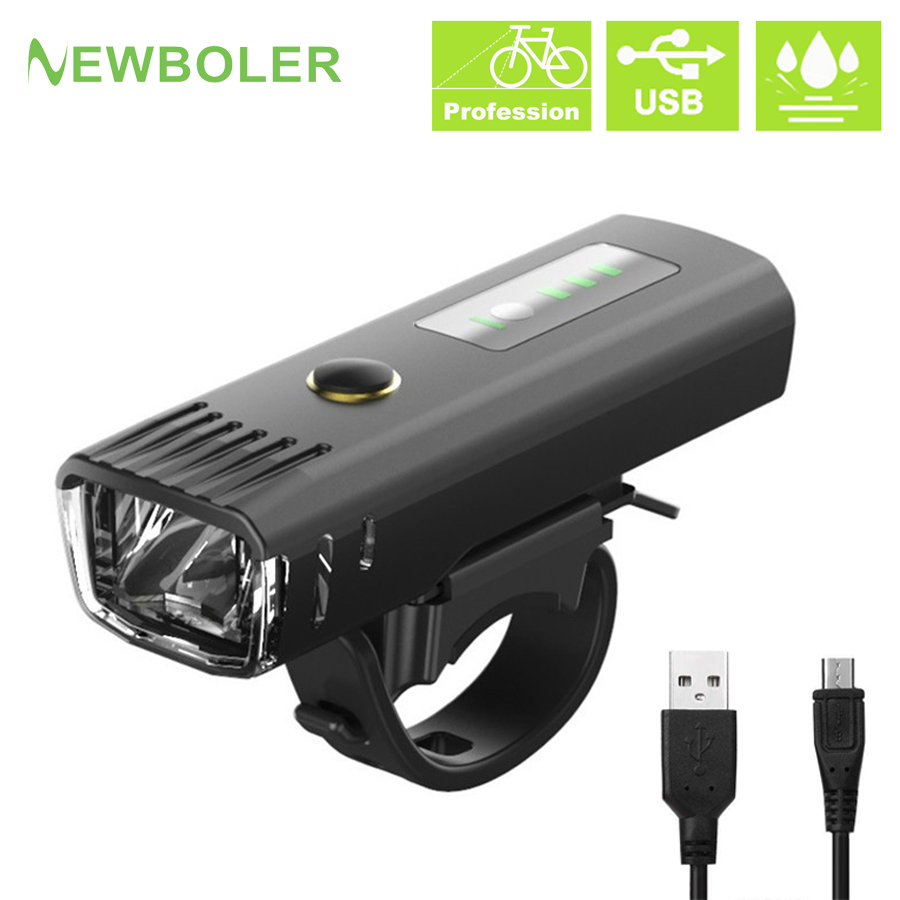 NEWBOLER 2500 MAh 300 Lumen Flashlight For Bicycle German Standard Induction Bike Front Light USB Rechargeable Lantern Bicycle