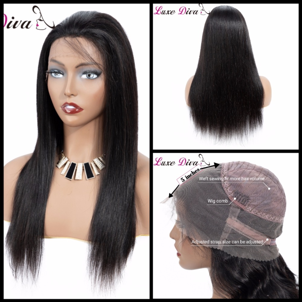 Brazilian Straight Hair Wig Lace Front Human Hair Wigs 360 Lace Frontal Wig Short Pre Plucked