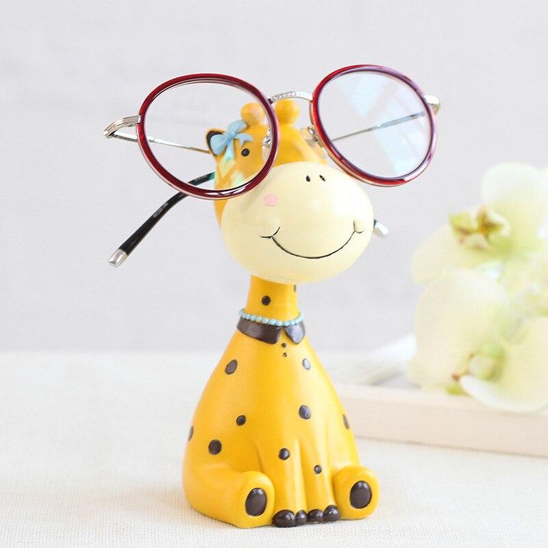 Zebra / Giraffe Animal Glasses Stand Resin Crafts Lovely Eyeglasses Sunglasses Stand Holder Rack Animal Best Xmas Gift for Kids