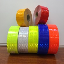 5CM*50M Flashing Small Square Fluorescent Warning Safety Reflective Tape Garment Accessories Marine Checkered Reflective PVC reflective safety warning pvc strip garment accessories safety vest clothing reflective crystal lattice pvc tapes