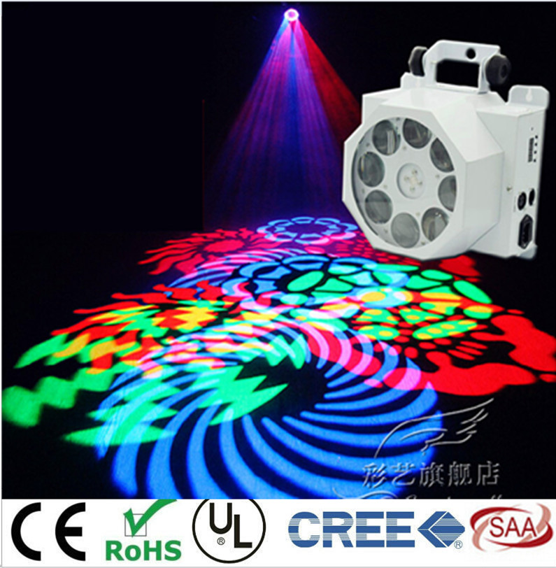 8 Eyes Pattern Light  RGBW Mix color  LED 40W spots Light DMX Stage 8 Channels Mini LED Moving lights  LED RGBW DJ Mini LED Spot