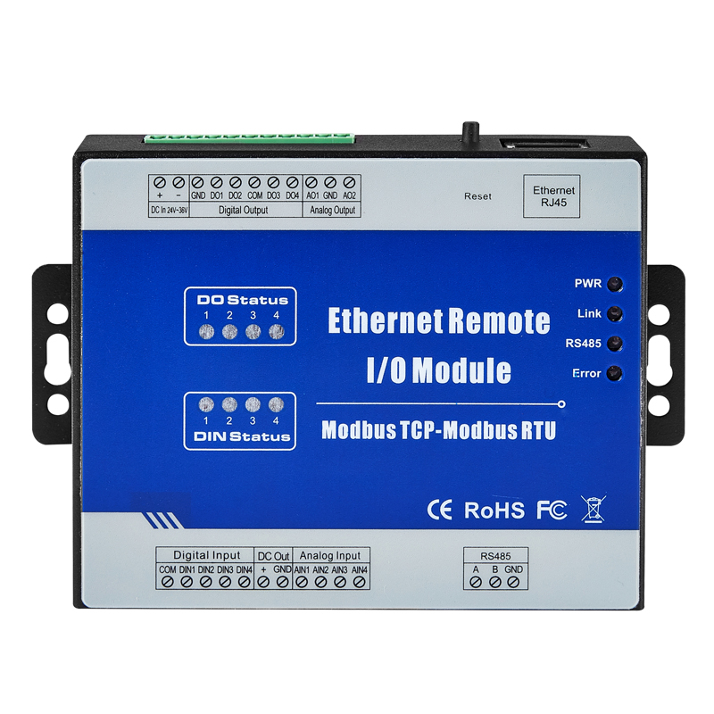 Ethernet Data Acquisition Module Web Realtime Monitoring 1 RS485 Supports Modbus RTU/ASCII Master M210T