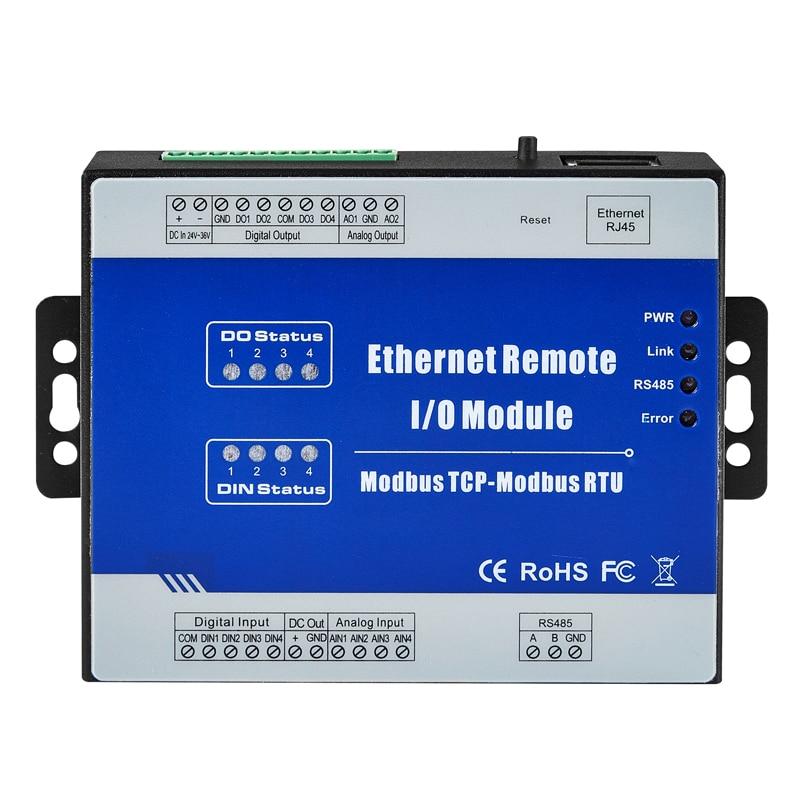 Ethernet Data Acquisition Module Web realtime monitoring 1 RS485 supports Modbus RTU/ASCII Master M210T