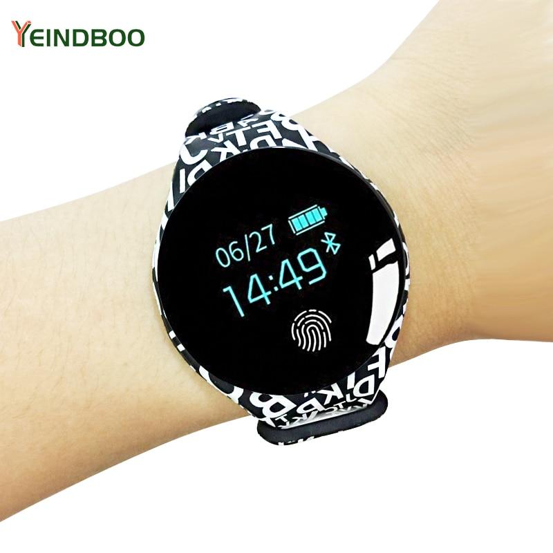 Bluetooth inteligente reloj para hombre mujer impermeable pulsera banda Fitness pulsera podómetro deportes Smartwatch para Android Ios