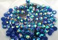 1000 unids 2mm AB Caliente Azul Flatback de IMITACIÓN De La Jalea Gran Calidad/Decoden Crystal Tips Nail Art Deco 2 MM