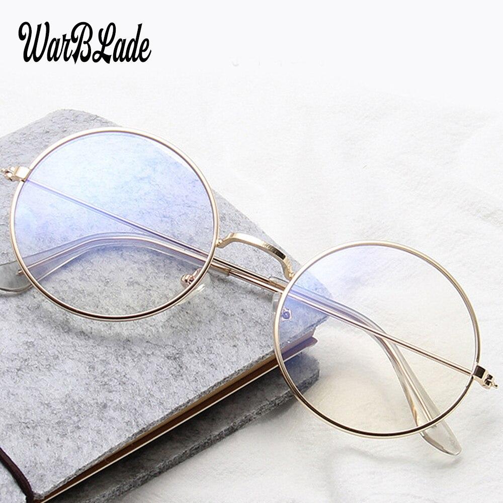 2019 Fashion Vintage Retro Metal Frame Clear Lens Glasses Nerd Geek Eyewear Eyeglasses Oversized Round Circle Eye Glasses