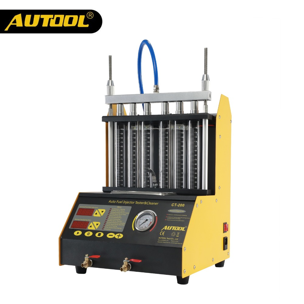AUTOOL CT200 Ultrasons injecteur de carburant machine à nettoyer Injector Cleaner Voiture Moto 6 4 Cylindre Propre Outil PK CNC602A