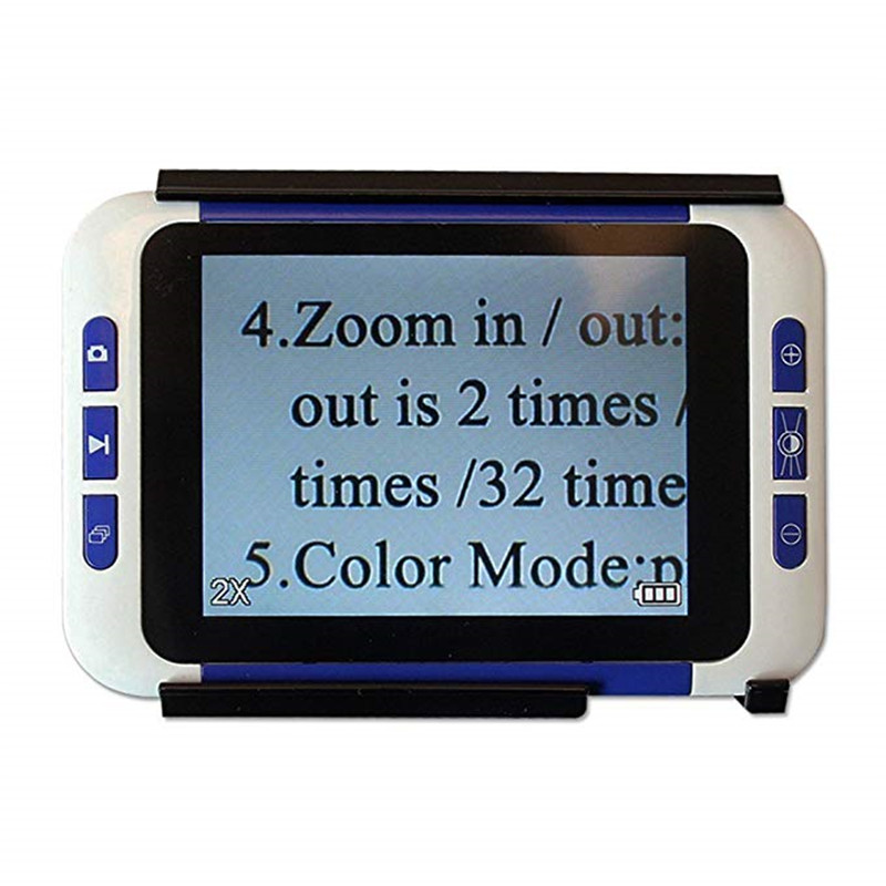 BOBLOV 2 32X 3 5 quot Color LCD lupa Electronic Reading Digital Magnifier Low Vision for Reading Aid loupe electronique vergrootglas in Magnifiers from Tools