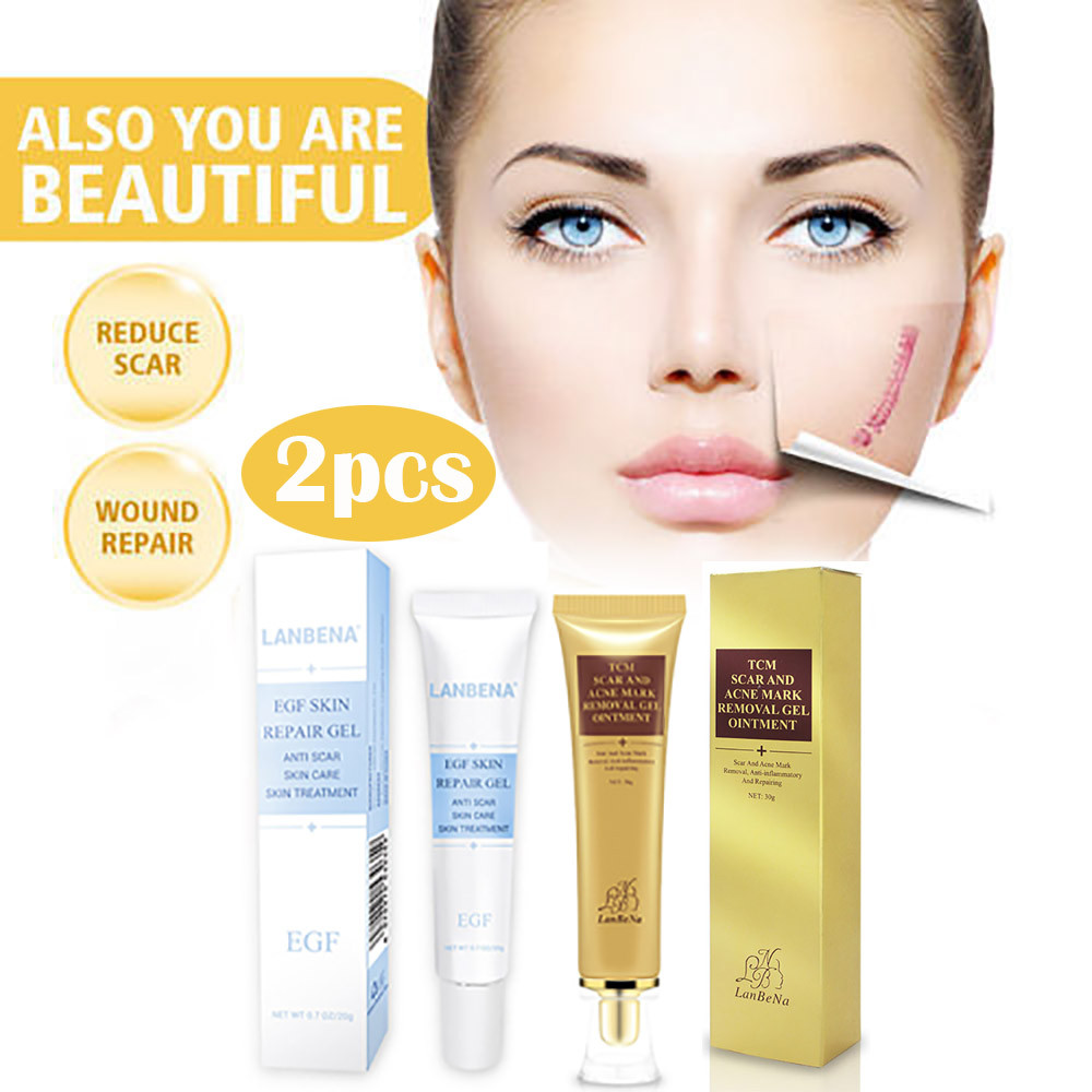 Acne Skin Care: 2018 New Fashion Beauty 2PCS Scar Acne Mark Removal Gel