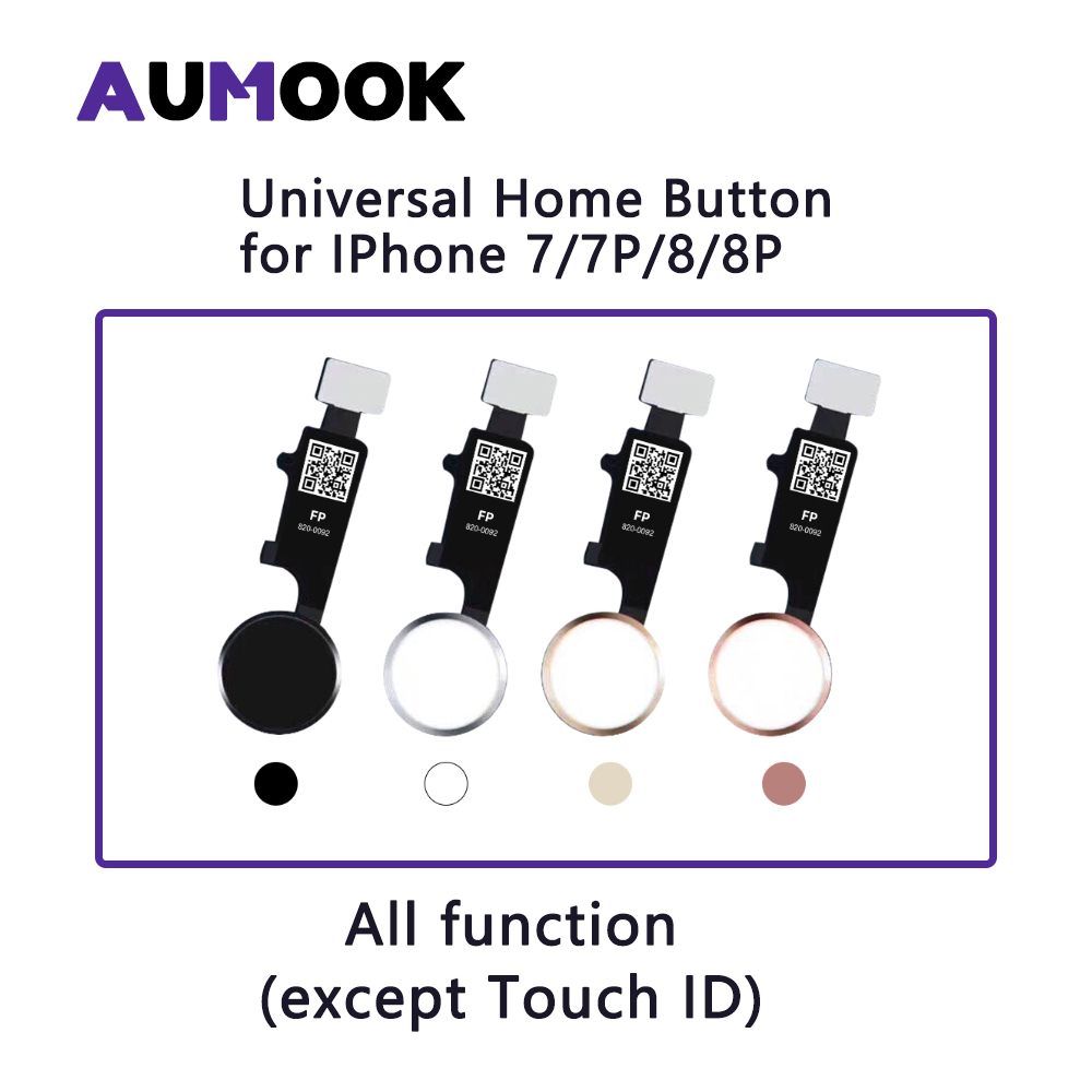 3rd Generation Universal Home Button For IPhone 7 7 Plus 8 8 Plus Flex Cable Restore Ordinary Home Button Return Functions
