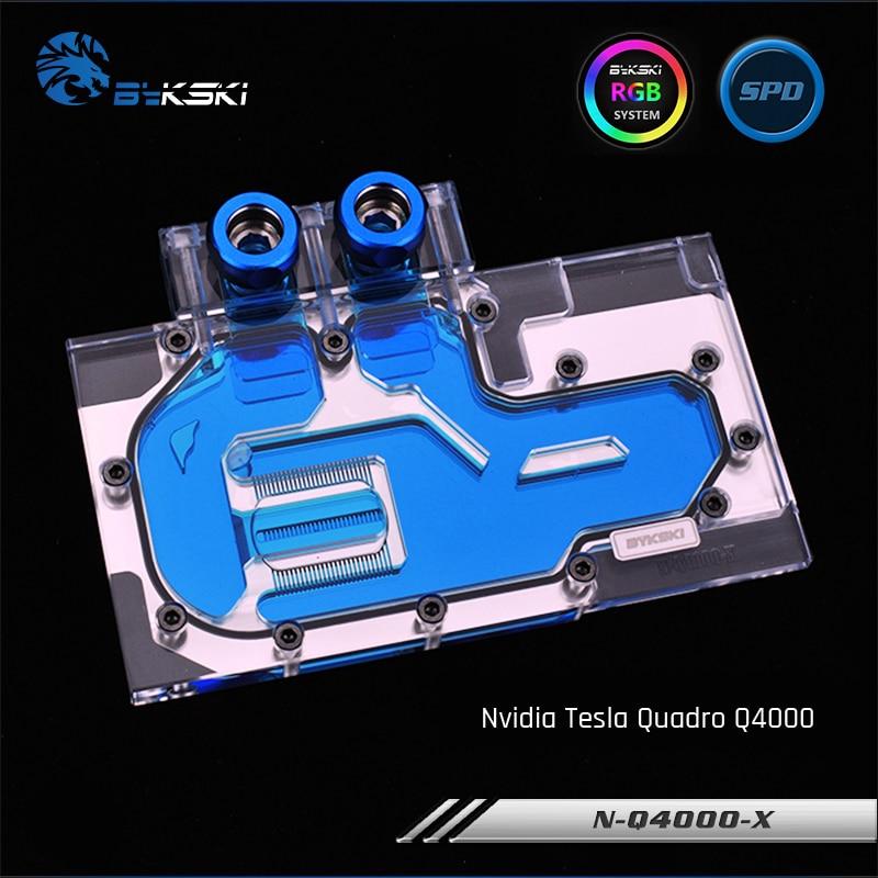Bykski N-Q4000-X Full Cover Graphics Card Water Cooling Block RGB/RBW for NVIDIA TESLA Quadro Q4000 цена