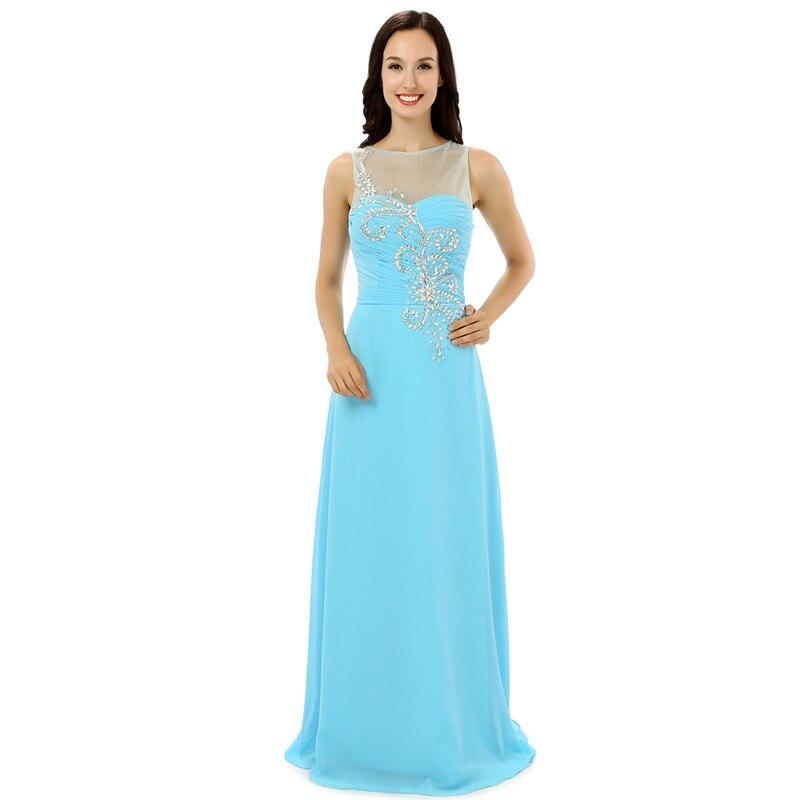 100% Wahr Licht Blau Chiffon Homecoming Kleider 2017 Kristall Perlen Strass Prom Kleid Lange Mezuniyet Elbiseleri Vvestido Formatura