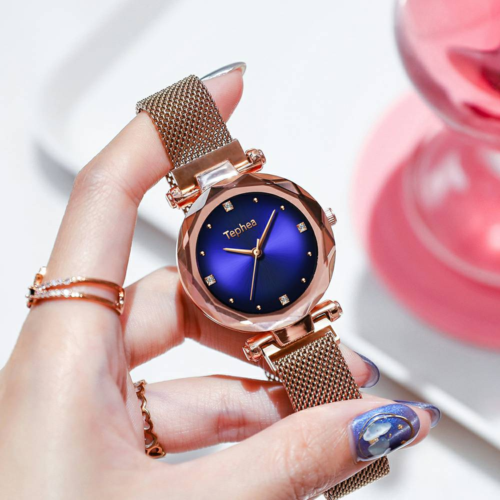 Luxury Rose Gold Watches Women Fashion Diamond Ladies Starry Sky Magnet Wrist Watches Waterproof Female Clock For Gift 2019 HotLuxury Rose Gold Watches Women Fashion Diamond Ladies Starry Sky Magnet Wrist Watches Waterproof Female Clock For Gift 2019 Hot