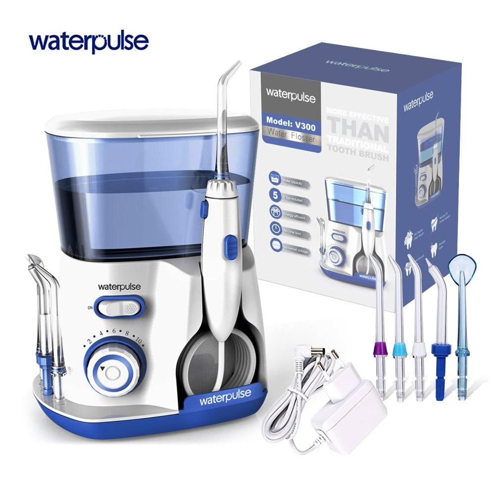 Waterpulse V300 полости рта Стоматологический Ирригатор электрико Portab Bucal воды ирригатор палочки нить гигиены поплавки для ухода за зубами