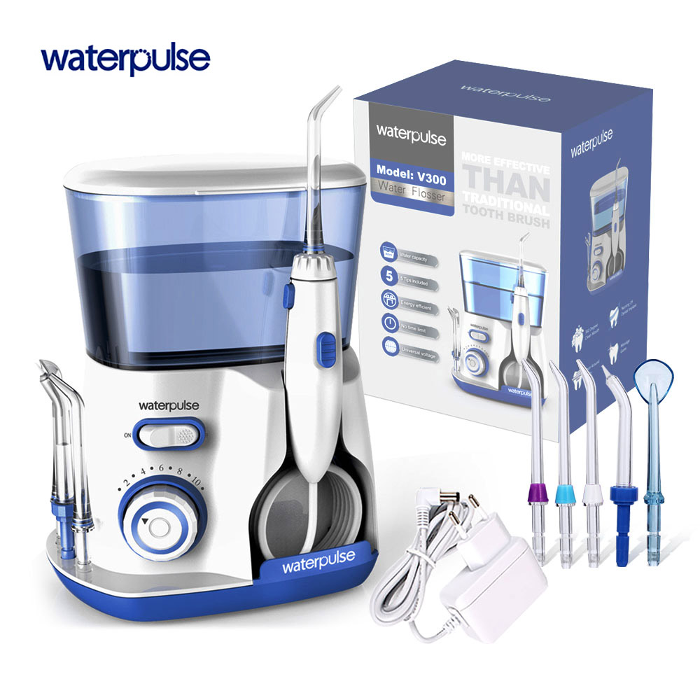 Waterpulse V300 Cavità Orale Irrigatore Dentale Electrico Portab Bucal Acqua Fili e cotoni per ricamo er jet Pick Fili e cotoni per ricamo Igiene Fili e cotoni per ricamo ing per i denti cura