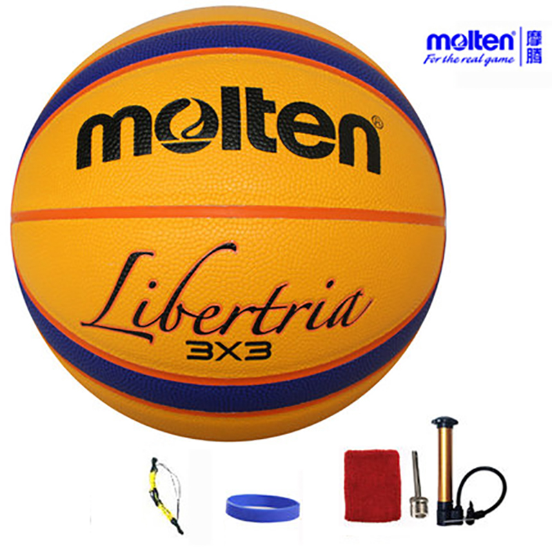 ФОТО original molten basketball ballB33T5000 NEW Brand High Quality Genuine Molten PU Material Official Size6 Basketball