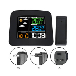Image 1 - Digital Color Wireless Weather Station with Clear LCD Humidity Dual Alarms Thermometer ALI88