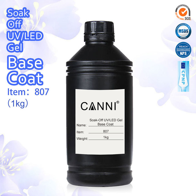 Non-cleansing Topcoat 1kg Bulk Package 809 Free Shipping CANNI Best Primer Rubber Base Coat Sticky Top Coat No-wipe Matt Topcoat