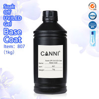 Non-cleansing Topcoat 1kg Bulk Package Express Available CANNI Best Primer Rubber Base Coat Sticky Top Coat No-wipe Matt Topcoat