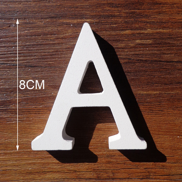 1pc White Wooden Letters English Alphabet Word Personalised Name Design Art Craft Free Standing Heart Shape Wedding Home Decor 2