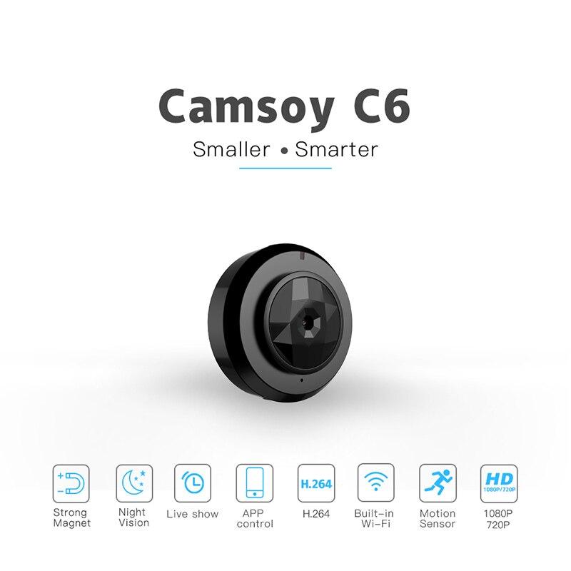 Protable C6 Mini Câmera HD 720 p Night Vision Camera Mini Câmeras de Ação Camcorder DV Câmera de Vídeo Gravador de Voz Micro cartão SD - 2