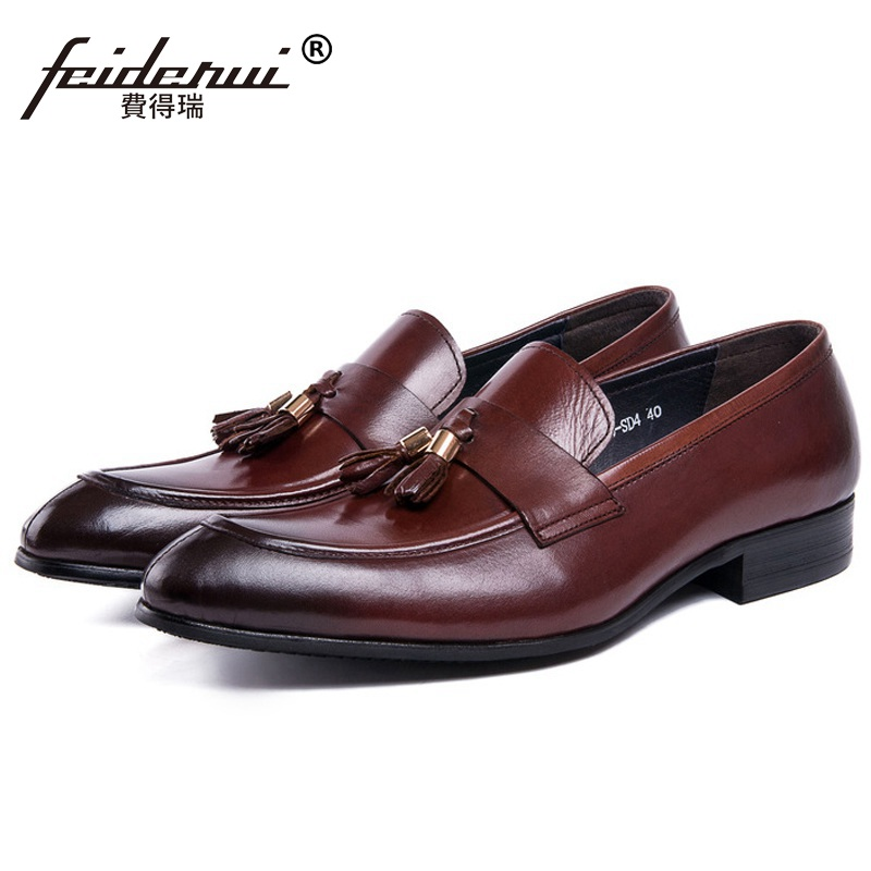 Hot Sales Luxury Man Casual Shoes Genuine Leather Comfortable Loafers Designer Brand Tassels Men's Business Office Flats DK17 top brand high quality genuine leather casual men shoes cow suede comfortable loafers soft breathable shoes men flats warm