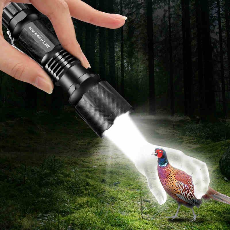 Icefire SK18 Мини светодиодный фонарик Масштабируемые 2000 CREE XML T6 супер яркий AAA 18650 Батарея Питание карманный фонарик