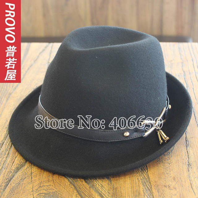 Winter Fashion Wool Felt Fedora Hats For Women Chapeu Feminino Dress Lady Church Hats Panama Free Shipping PWFR-043