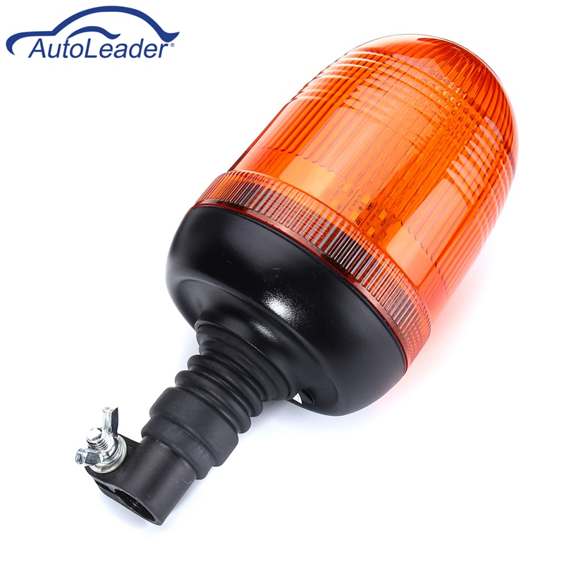 Autoleader LED Car Signal Lamp Flashing Strobe Beacon Emergency Warning Light Car Auto Amber Lamp Yellow Lighting 12-24V 80 LED