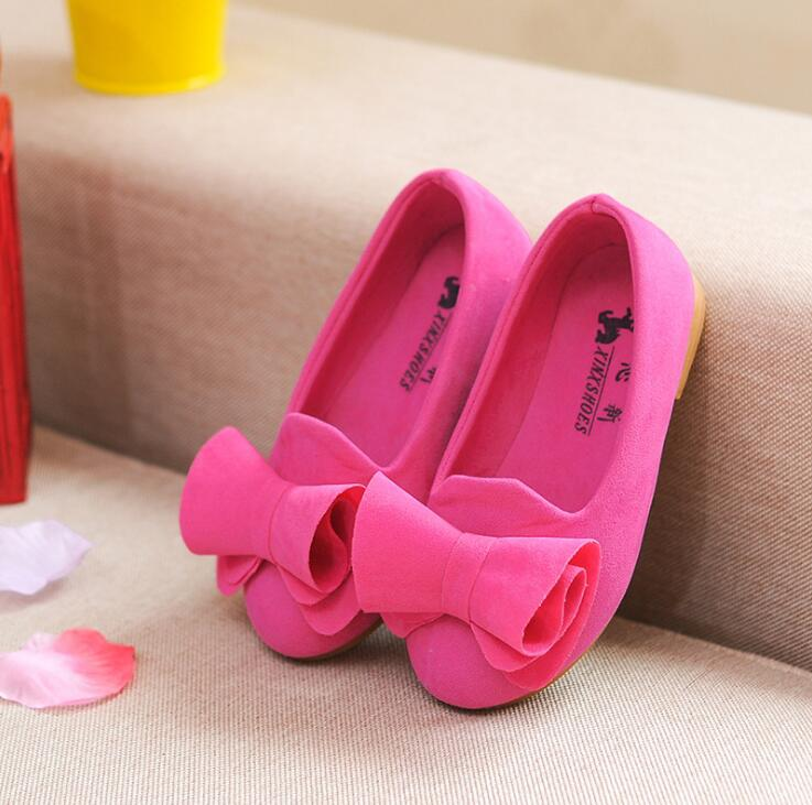 2019 Spring And Summer Autumn Flowers Butterflies Bow Girls Single Shoes Children Princess Suede Dance Shoes Kids Sneakers 21-36