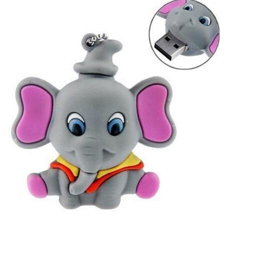 Hot sale USB Flash Drive lovely elephant style usb flash drive cartoon pendrive 8gb 32gb animal memory stick 4gb 16gbKS910