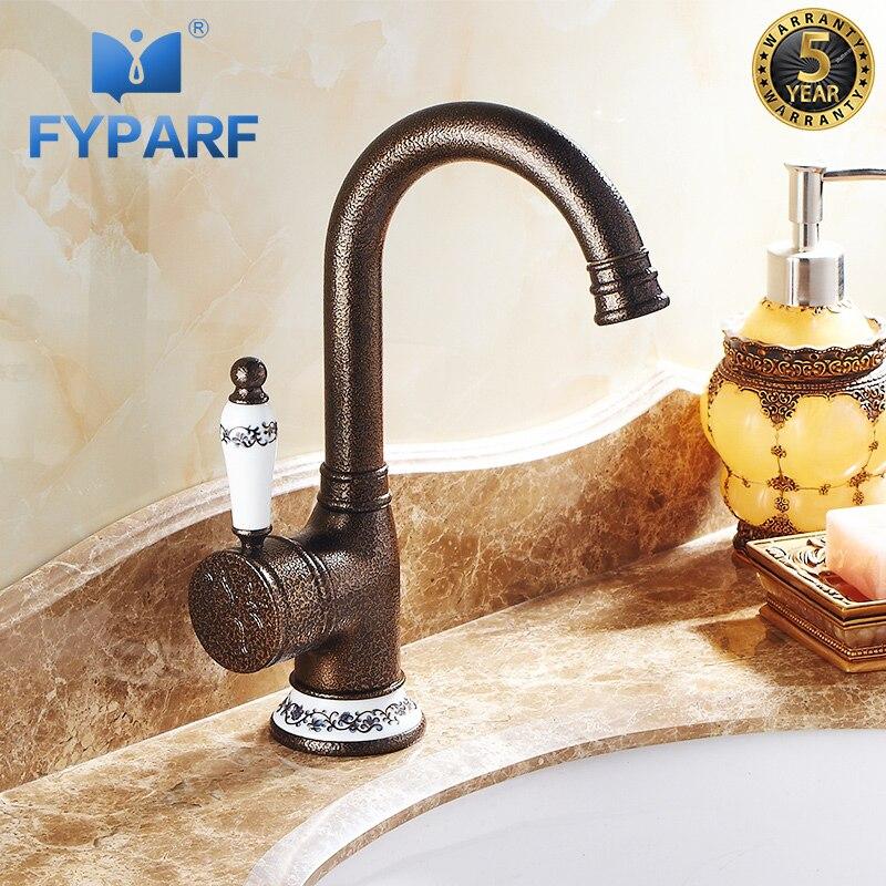 FYPARF salle de bains bassin robinet rétro robinet lavabo robinet eau hôtel cuivre mélangeur robinets chaud froid bassin mélangeur robinet Torneira