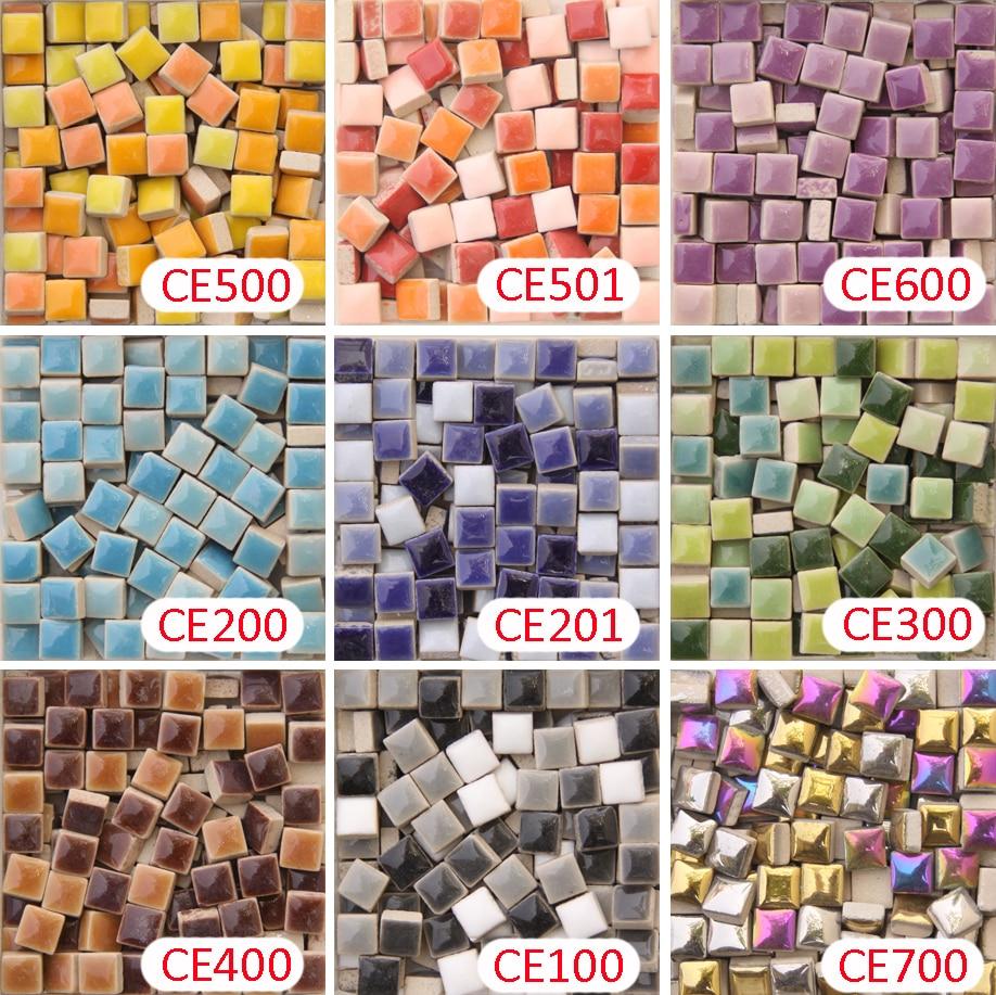 200g/205 peças 10x10mm 3/8 polegadas, branco preto cinza rosa roxo cerâmica mosaico, telha mosaica diy de 1x1cm, fornecedor de arte de mosaico