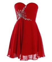 Damen Cocktailkleider 2016 Vestido Curto De 15 Anos Günstige Prom Homecoming Kleider Roten Kurzen Kleid