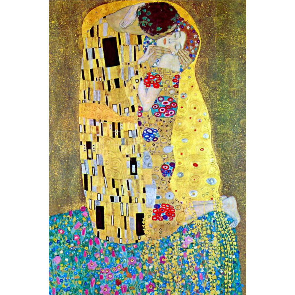 Gustav Klimt classic oil painting reproduction The Kiss hand painted on linen for living room home decor hot sale