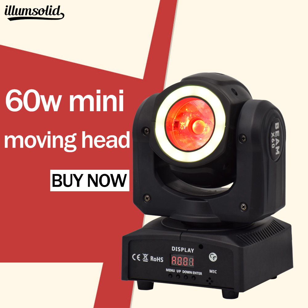 60W Mini Moving Head Wash Beam 2in1 Stage Effect DJ Professional stage lighting