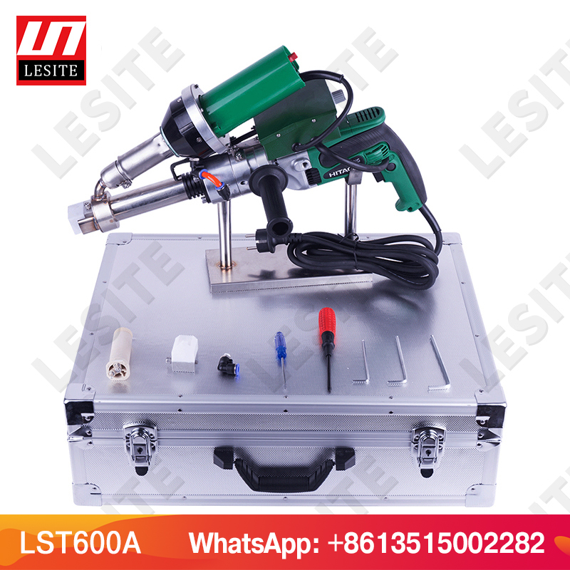 Machine en plastique de soudure de tuyau de HDPE de soudeuse d'extrusion de pistolet de soudure d'extrudeuse de main en plastique LESITE LST600A